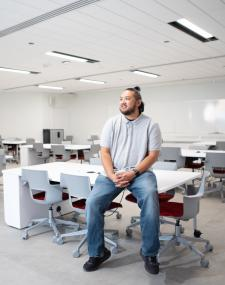 Continuing Studies student sits in classroom